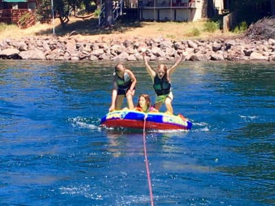 Tubing at St. Andrews Lake Almanor Summer Camp