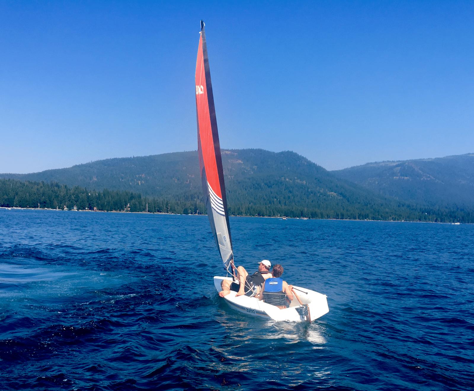 Sailing on Lake Almanor at Choir Camp