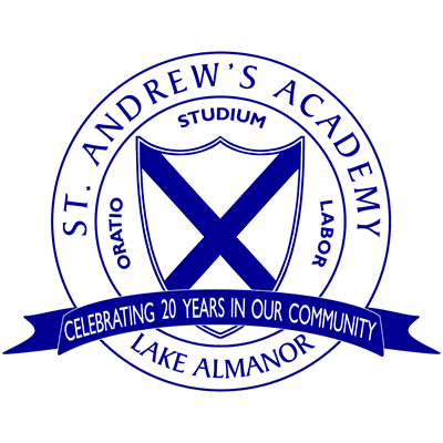 St Andrew's Academy Logo - 20 Years in Lake Almanor